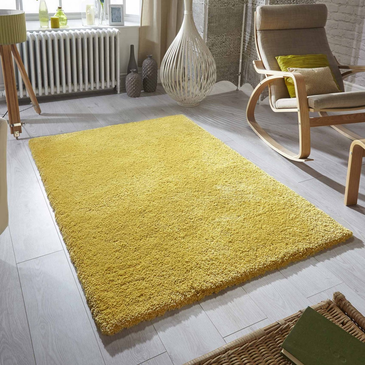 Supersoft Shaggy Mustard Yellow Rug